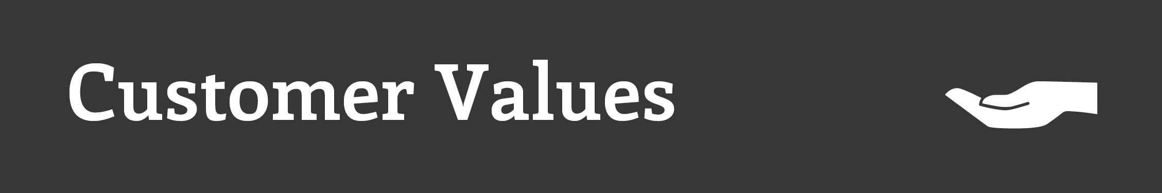 Customer Values